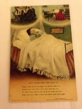 "Song Card ""Daddy Please Come Home To Me "" Bamforth Postcard - Stamped"