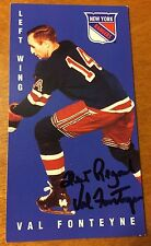 VAL FONTEYNE SIGNED 1994 TALL BOYS HOCKEY CARD, NEW YORK RANGERS,Red Wings,Pens