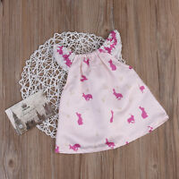 Newborn Baby Girls Princess Lace Sleeve Bunny Print Dress Skirt Summer Clothes