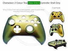 Nuevo controlador de Xbox One S Cambio de Color frontal concha de oro verde Mod Únicos Personalizados