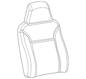 Genuine GM Seat Back Cover 19151706