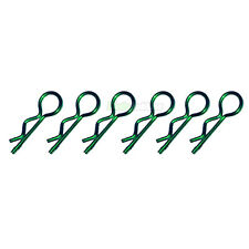 6 X RC Green 45 Deg Car Body Clips 1/10 1/16 Scale Drift Ansmann Tamiya HPI UK