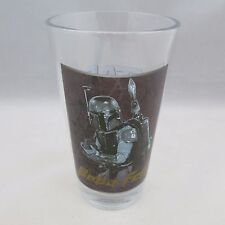 Starwars Glass Boba Fett Water or Beer Glass 2013 Lucas Film 5.5""