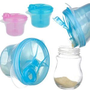 3-Grid Baby Milk Powder Container Snack Pot Dispenser Storage Box