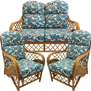 REPLACEMENT CUSHIONS CANE CONSERVATORY FURNITURE FOR A 3 PIECE SUITE unpiped