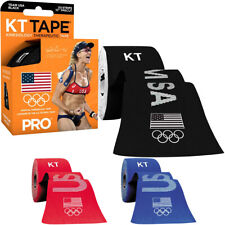 """KT Tape Pro Team USA 10"""" Precut Kinesiology Therapeutic Sports Roll - 20 Strips"""