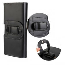 For Sony Xperia XA2 Black Leather Tradesman Belt Clip Buckle Pouch Case Cover