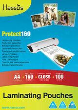 100 pochettes Laminage A4 160 MICRON (2 x 80 micron) sachet laminé brillant