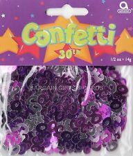 3 Pack 30 Aniversario Confeti / Cuadro De Zarzamora Color Rosa Mesa Decoraciones
