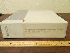 HP 8590 E and L Series Spectrum Analyzer 8591C Cable TV Analyzer Programmer's Gu