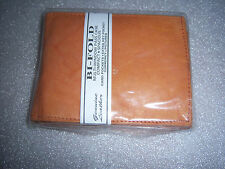 Mens Genuine Leather Bi-Fold Multi-Window Compact Wallet for Men NEW