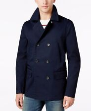 NEW $169 TOMMY HILFIGER MIDNIGHT NAVY LIGHT WEIGHT COTTON DOVER PEACOAT SIZE M