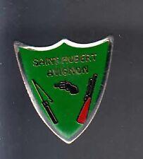 RARE PINS PIN'S .. SPORT CHASSE HUNTING ARME GUN TIR SAINT HUBERT AVIGNON 84 ~BC