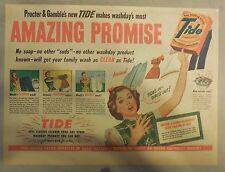 Introducing Tide Detergent Ad: Amazing Promise ! Ad 1949