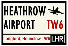 STREET / ROAD SIGNS (HEATHROW AIRPORT) - SOUVENIR NOVELTY FRIDGE MAGNET - GIFTS