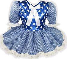 READY 2 WEAR | Blue STARS HALLOWEEN Costume Adult Baby Sissy Girl Dress LEANNE