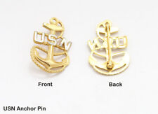 1 Original Vintage USN, US Navy Anchor Insignia, Pin Back, Badge