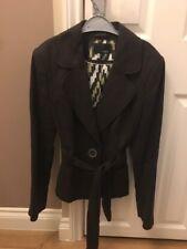 Next Fabulous 100% Linen Lined Brown Ladies Blazer Jacket Size 10