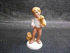 Old Vtg 1981 Avon BEST FRIENDS FIGURINE Statue Porcelain Bisque Boy Dog Japan