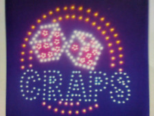Craps Neon Led Sign, Business Sign, Store Sign,smoke Shop Sign,Window Sign