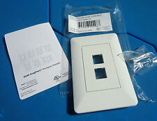 25 quantity On-Q Legrand Any Port Designer outlet 2-Port Decorator Wall Plate