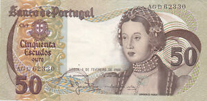 50 ESCUDOS VERY FINE BANKNOTE FROM PORTUGAL 1980 PICK-174