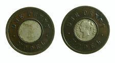 pcc1953_1) Great Britain Queen Victoria 1837-1901 One Penny Model Bimetallic