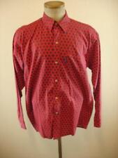 Mens sz S M Atelier Provencal Western Pearl Snap Shirt Red Blue Long Sleeve Vtg