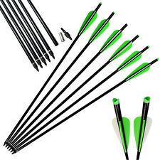 "6X 18"" Aluminum Crossbow Bolts Hunting Shooting Moon Nock Archery Outdoor Sport"