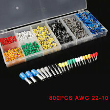 800pc Insulated Car Cable Wire Terminals Crimp Connectors AWG 22-10 Assorted Kit
