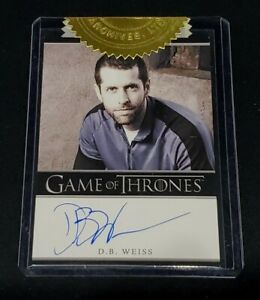 Game of Thrones Season 2 D.B. Weiss Autograph 3 Case Incentive