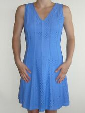 Looks New Womens Ann Taylor Dress Sz 2 S Periwinkle Blue Fit Flare Lined Vneck
