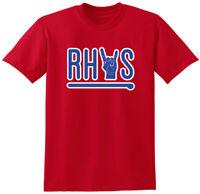 "RED Rhys Hoskins Philadelphia Phillies ""Home Run Rock Out"" T-Shirt"