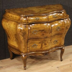 Dresser Venetian Wooden Inlaid Antique Style Furniture Chest of Drawers 900