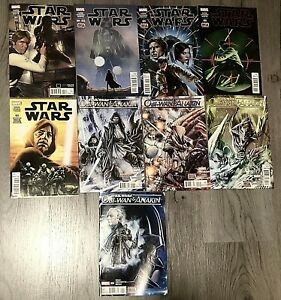 Marvel Comics 2015 2016 Star Wars Comic Books Miscellaneous Lot of 9