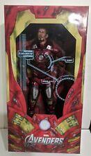 "Avengers Battle Damaged Iron Man 18"" 1/4 Scale Action Figure Statue NECA"