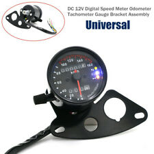 12V Universal Motorcycle Speedmeter Odometer Tachometer Gauge Bracket Assembly