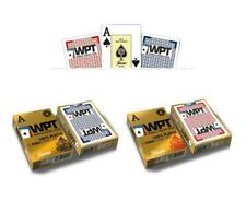 Pack 2 Barajas Fournier Poker World Tour Wpt. 55 cartas. 100 Plástico lavable