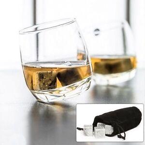 Premium Whiskey Stones (Set of 9) Whiskey Rocks With Velvet Storage Pouch