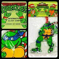 TMNT Leo Ice Skating Ornament 1990 Teenage Mutant Ninja Turtles Vintage [in bag