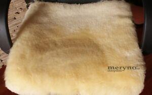 Real sheepskin chair pad nursery soft wool