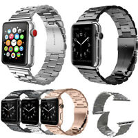 Stainless Steel Wrist Band Bracelet Clasp For Apple Watch 3/2/1 38mm 42mm