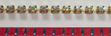 Swarovski Rhinestone Chain 2mm AB 2 Ft Brass