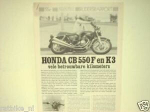 HONDA CB 550 F & K3  ROADTEST
