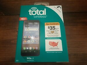 """New Total Wireless TCL LX 4G LTE Prepaid Cell Phone 5.3"""" 16GB 8MP Android 8"""
