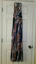 NEW $75 Modcloth Dress S With Open Wings Halter Maxi Butterfly Print Unique
