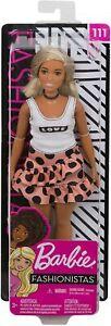 Barbie Fashionistas 111 - Blonde w/ Polka Dot Skirt. Brand New Boxed Doll, NRFB.