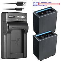 Kastar Battery Slim Charger for CGA-D54 D54s Pro Panasonic AG-DVC63 AG-HVX200AEN