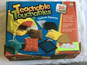 LEARNING RESOURCES;Teachable Touchable Textures 2x3 SQUARES, TACTILE AWARENESS