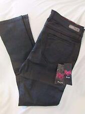 "Ladies ""Wrangler Rock 47"", Size 32x31, Black, Coated, Mid Rise, Skinny Leg Jeans"